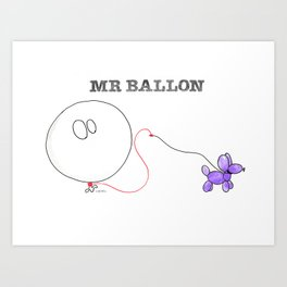 Mr Ballon Art Print