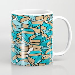 Book Collection in Turquoise Coffee Mug