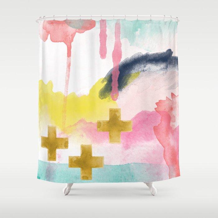 Three Wisemen Abstract Shower Curtain