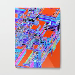 DISPLACED CITY Metal Print