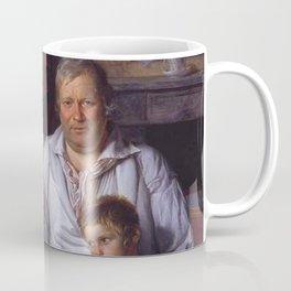 Jacques-Louis David - Portrait d'un homme et de ses enfants Coffee Mug