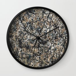 Jackson Pollock - One: No. 31, 1950 - Exhibition Poster Wall Clock