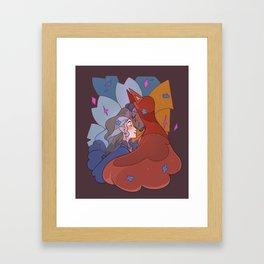 VA Nose Nuzzle Framed Art Print