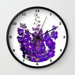 Rich blue-violet Delphinium Wall Clock