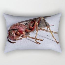 Wasp on a Bender Rectangular Pillow