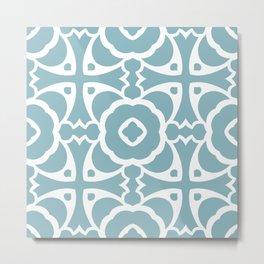 Abstract Decorative Pattern 69 - Rock Blue, Sinbad Metal Print