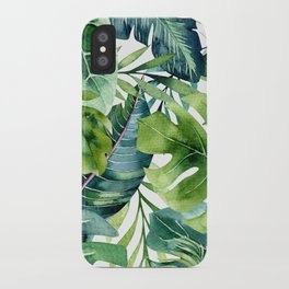 Tropical Jungle Leaves iPhone Case