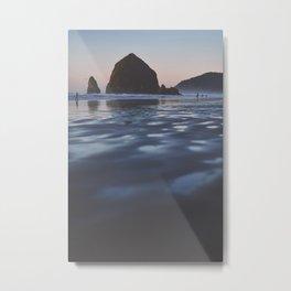 Cannon Beach at Dusk Metal Print