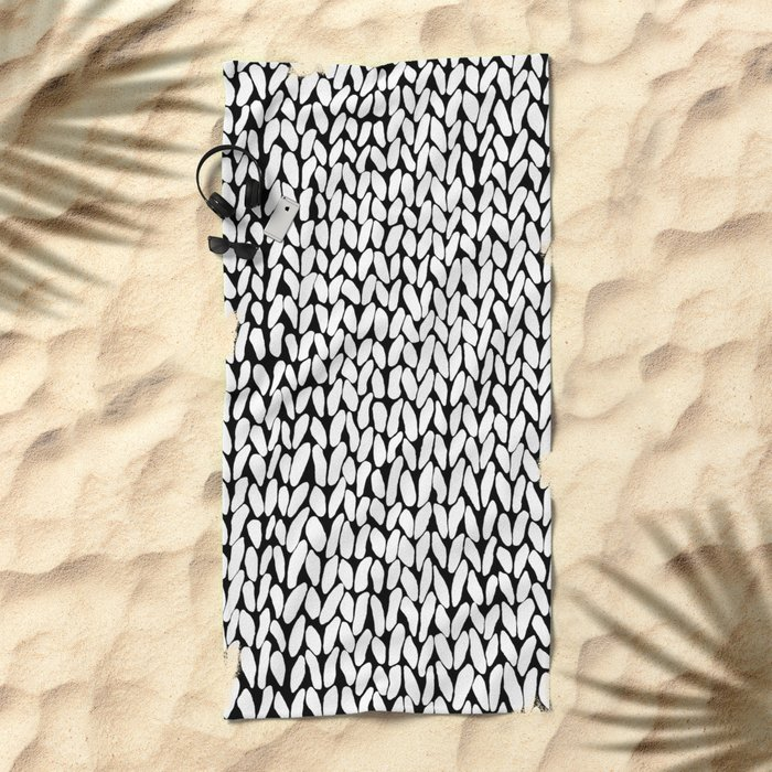 Hand Knitted Loops Beach Towel