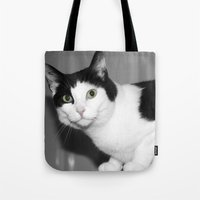 elmo Tote Bags featuring Elmo by Paul & Fe Photography