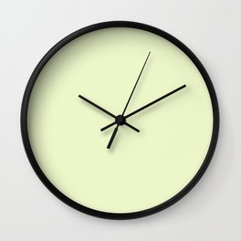 Pastel greenery Wall Clock