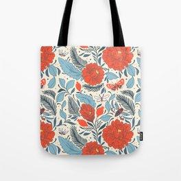 Spanish Red Rose Pattern Tote Bag