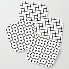 Black and White Grid Graph Coaster