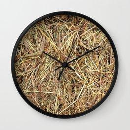 Hay texture Wall Clock