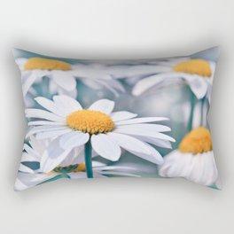 Marguerite blue 032 Rectangular Pillow