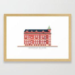 Gooderham Building | Icon-O-Tecture Framed Art Print