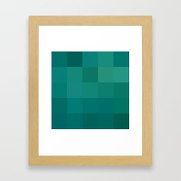 BLOCKS - GREEN TONES - 1 Framed Art Print