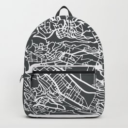 Algiers Algeria Map in Retro Style. Backpack