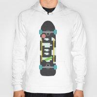 skateboard Hoodies featuring Skateboard by Ella