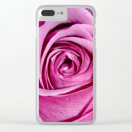 Lovely Rose - pink Clear iPhone Case