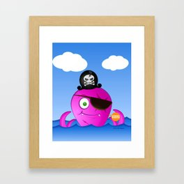 Octopus Pirate Framed Art Print