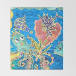 friendship ocean Throw Blanket