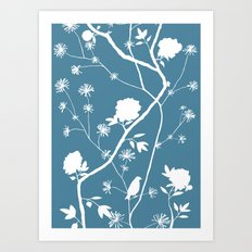 Jenny Chinoiserie Simple on pond Art Print