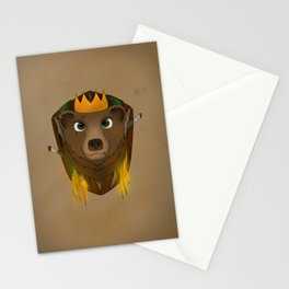 """The Warlord Bear"" with Map Texture Stationery Cards"