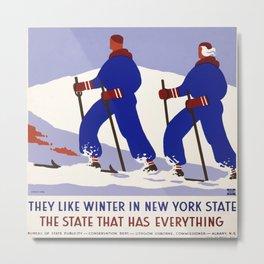 Vintage poster - New York Metal Print