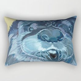 Mustache the Otter Rectangular Pillow