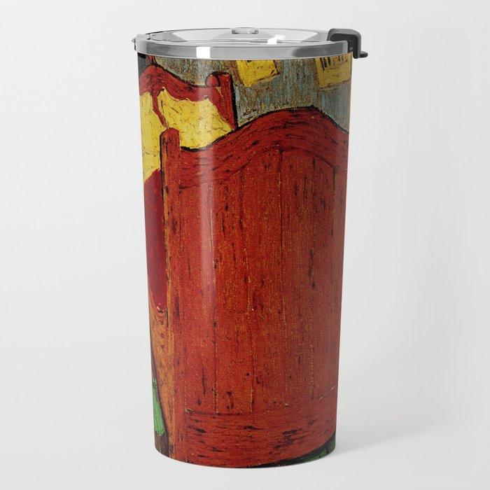 Van Gogh, bedroom in arles– Van Gogh,Vincent Van Gogh,impressionist,post-impressionism,brushwork,pai Travel Mug