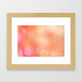 Pink Bokeh Framed Art Print