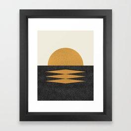 Sunset Geometric Midcentury style Framed Art Print