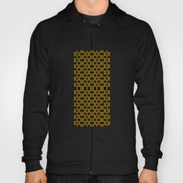 Black & yellow stripes abstract graphic Hoody