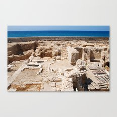 Ruins by the Mediterranean  Canvas Print
