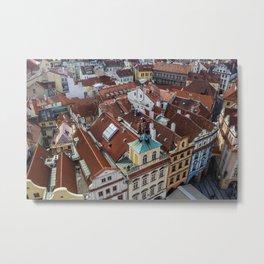 Above Prague Metal Print