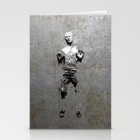 han solo Stationery Cards featuring Han Solo Carbonite by Inara
