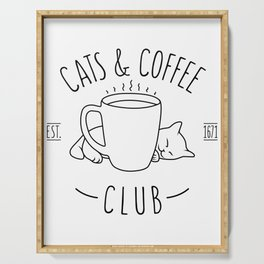 Cats and Coffee club Serving Tray