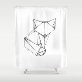 Origami Fox Shower Curtain