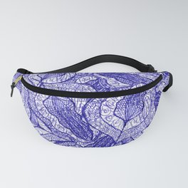 pen and ink fallen leaves doodle pattern 2 Fanny Pack