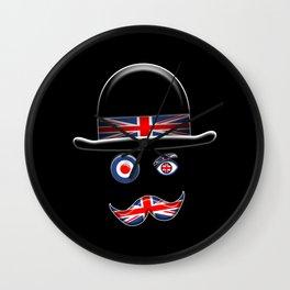 British Flag Face. Wall Clock