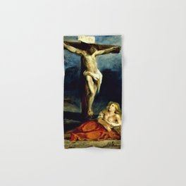 Eugene Delacroix - Saint Mary Magdalene At The Foot Of The Cross - Digital Remastered Edition Hand & Bath Towel