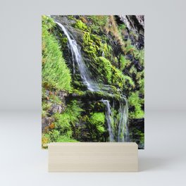 St Catherine's Tor Waterfall Mini Art Print