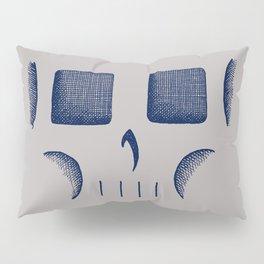 Skull Linework (Dark Blue / Gray) Pillow Sham