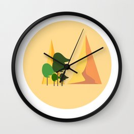 Windy mountains Wall Clock