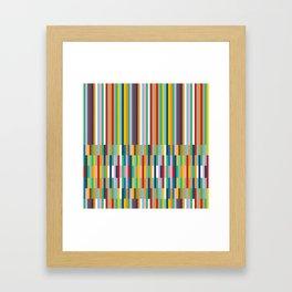 Brick Columns Framed Art Print