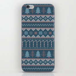 Chistmas Sweater in Blue iPhone Skin