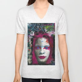 Collage Women Unisex V-Neck