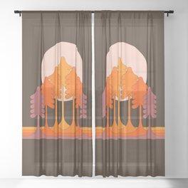 Super Worm Equinox Moon Sheer Curtain