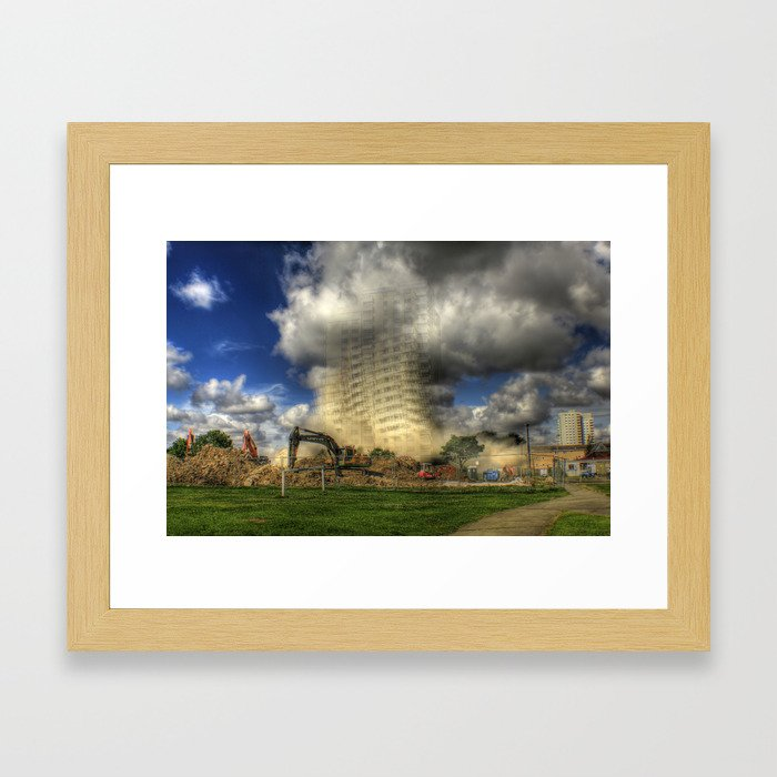 Demolition of Bridgeman House Hull 2012 Framed Art Print